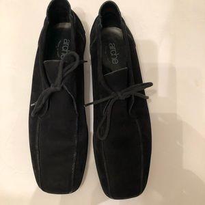 Arche Black Leather Short boots rubber sole